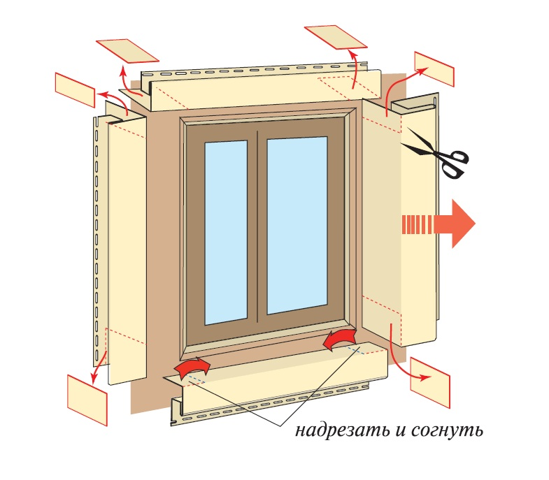 монтаж околооконной планки металлического сайдинга
