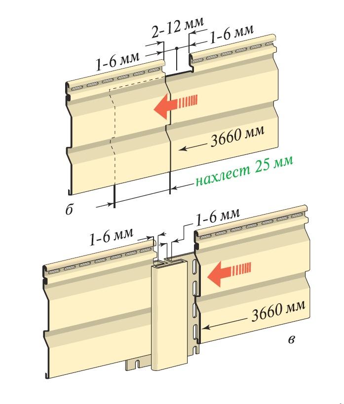 инструкция по монтажу винилового сайдинга в нахлёст